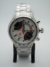 Timex TX Flyback White Dial Chronograph Compass 2nd Time Zone Men's Watch T3C175