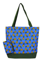 Jenzys Pineapple Womens Travel Tote Bag Purse Handbag Shopping Gym School