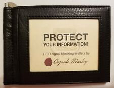 Osgoode Marley RFID Money Clip WALLET -New w/Tag- BLACK- LEATHER #1221 Front Pkt