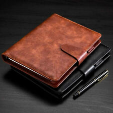 PU Leather Cover Journal Business Notebook Lined Paper Diary Planner Refillable