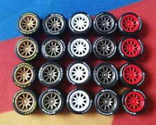 1/64 Rubber Wheels 5 Pack CE28 Real Riders To Fit Hot Wheels Matchbox Corgi a3