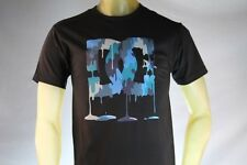DC SHOES BLACK PREMIUM GRAPHIC T-SHIRT W/ BLUE & GRAY DRIPPING LOGO size Medium