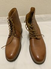 Jack Threads Mens size 9.5 BROWN Ankle Boots Alexander Plain  Toe NEW