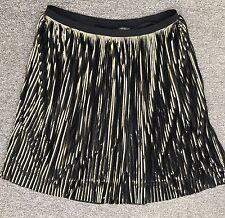 Womens Plus Black/Gold Accordion Pleated Party Skirt LANE BRYANT Sz 22/24