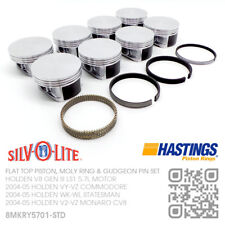 LS1 STD FLAT TOP PISTONS & MOLY RINGS GEN 3 V8 5.7L [HOLDEN VY-VZ COMMODORE]
