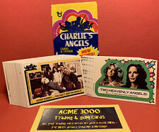 1977 Topps - CHARLIE'S ANGELS Series 2 JOB LOT 47 Gum Cards 15 Stickers & 1 Pack