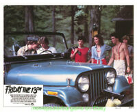 FRIDAY THE 13TH LOBBY CARD size 11x14 Inch MOVIE POSTER 3 Card's 1980 HORROR