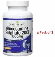 Natures Aid Glucosamine Sulphate 2KCI 1000mg 90 Tablets x Pack of 2