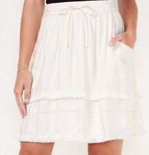 NWT LC Lauren Conrad Fringe Skirt White Medium (M) Retail $44