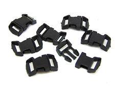 3cm Curved Black Plastic Buckles Buckle Side Release For 12mm Webbing