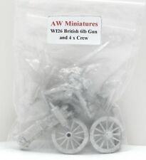 AW Miniatures WI26 British 6lb Gun & Crew (Wellington in India) Artillery Cannon