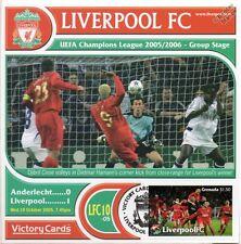 Liverpool 2005-06 Anderlecht (Djibril Cisse) Football Stamp Victory Card #510