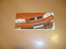 DEPLIANT gamme Honda de 1992