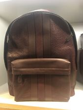 NWT COACH F11250 Men's Charles Baseball Stitch Leather Backpack in Oxblood $595