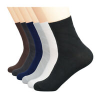 LANKONG 1 Pair 100% Pure Cotton Mens Summer Casual Crew Socks Sweat Absorption