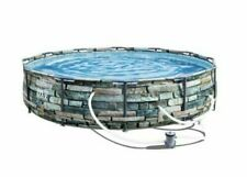 "12' x 30"" with Stonehedge Design Bestway Steel Pro Max Above Ground Pool Set"
