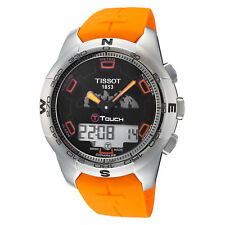 Tissot Men's T0474204705111 T-Touch 42.7mm Black Dial Silicone Watch