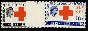GILBERT AND ELLICE ISLANDS QEII SG80-81, complete set, NH MINT.