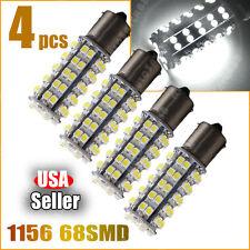 4x Pure White 1156 BA15S 68-SMD Car Rear Turn Signal LED Light Bulbs 1003 1141