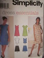 7509 Vintage Simplicity  SEWING Pattern Misses Slight Fitted Dress Top Skirt FF