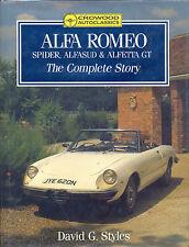 Alfa Romeo Spider Alfasud & Alfetta GT, the Complete Story - David Owen - book