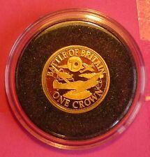 2010 TDC Batalla De Gran Bretaña 70º Ann. una Corona 24 Ct Oro moneda de prueba y Coa
