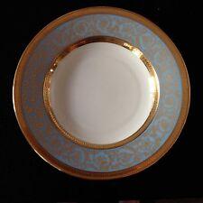 CH FIELD HAVILAND & PARLON Limoges gold encrusted rim soup bowl EDITH BLUE