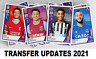 Panini Football 2021 TRANSFER UPDATE Stickers FREEPOST