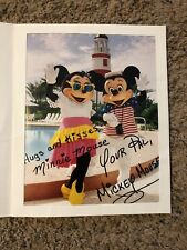 Mickey Minnie Mouse Dual Signed 8x10 Photo Disney Vacation Club Autograph
