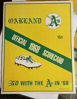 1968 first home game Oakland Athletics vs Orioles Scorecard in Great Condition!