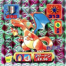 POKEMON STICKER CARD JAPANESE 50X50 1997 HOLO N° 359 CHARIZARD DRACAUFEU