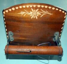 CUENDET Swiss Wood Carved MUSIC BOX Toilet Roll Dispenser Unusual & Rare Vintage
