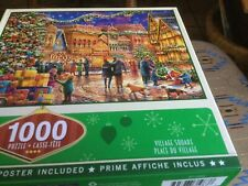 "Masterpiece Jigsaw Puzzle HOLIDAY ""Village Square ""  1000pc  NEW Randy Earles"