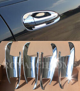 CHROME Door Handle Cup 4x for Mercedes Benz C Class W204 07-14 Sedan Estate AMG