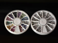 Acrylic Rhinestone set 2 pcs wheels for Nail Art Decoration