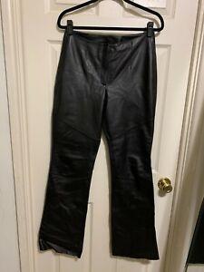 Wilson Learher Pelle Studio Black Leather PantSz.6