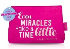 Disney Never Grow Up Even Miracles Take A Little Time pink make up bag Mad Beaut