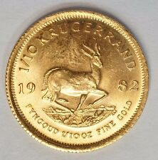 1982 South Africa 1/10 oz Gold Krugerrand GEM BU - (G-1982)
