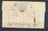 1816 Lettre Déboursé DEBOURSE PRES GOUVERNEMENT ROUGE TB. P4109