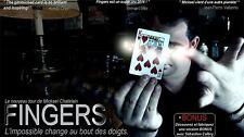 Magia Carta Truco dedos (Rojo) Mickael Chatelin