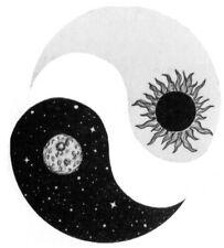 Yin Yang Sun & Moon Life Circle Waterproof Tattoos Women Mens Kids Fake Stick on