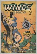 Wings #89 January 1948 G/VG Classic Cover!