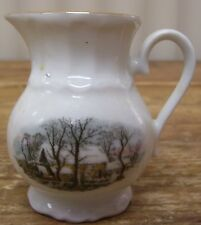 Crown Bavaria Germany Avon Small Creamer Winter Scene Snow House Tree