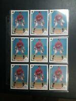 1991 Upper Deck #55 Chipper Jones 9 card lot / Atlanta Braves / HOF ROOKIE