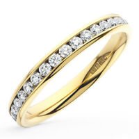 0.50CT Round Brilliant Cut Diamond Full Eternity Wedding Ring in 18K Yellow Gold
