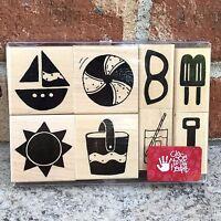 Beach Rubber Stamp Set JRL Design Set At The Beach New