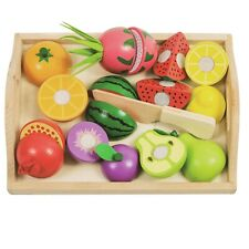 Eliiti Wooden Cutting Vegetables Toy Set for Girls Kids 3 to 5 Years Old