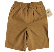 Levi's Boys Size S/M/L 100% Cotton Khaki Shorts Brown Elastic Waist 918478 X2C