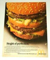 1980 McDonalds Big Mac Sandwich Burger Vintage 80's Food Advertisement Print Ad