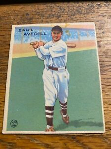 1933 GOUDEY #194 EARL AVERILL INDIANS VG-EX Slight stain front and back